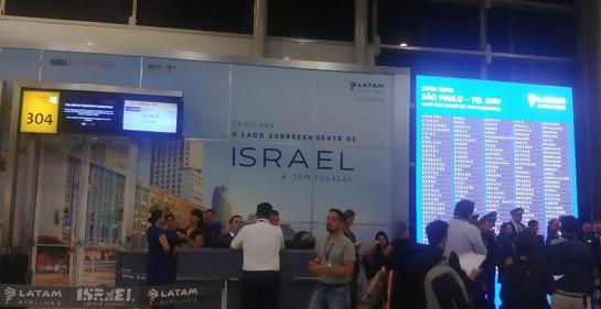 Emotiva inauguración de la línea directa LATAM desde San Pablo a Tel Aviv.