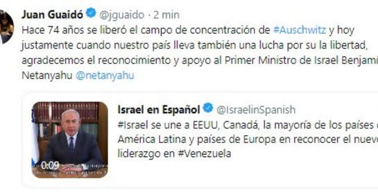 JUAN GUAIDÓ AGRADECE A NETANYAHU POR EL RECONOCIMIENTO