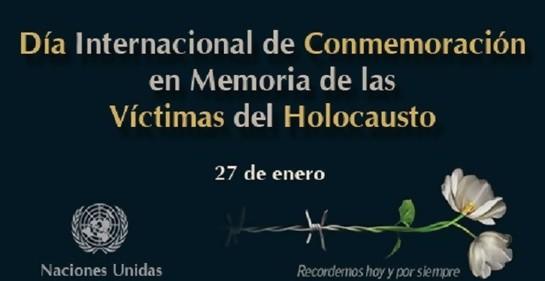 Anuncio, de cara al Día Internacional de Recordación de las Víctimas de la Shoa.