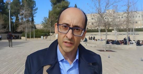 Diego Delgrossi en Jerusalem, en un curso sobre la Shoa.