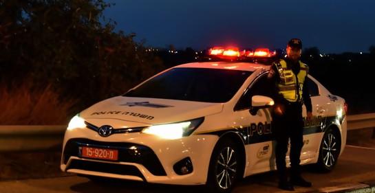 Patrullero de la policía israelí.