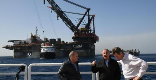 Llegó al Mediterráneo la base de la plataforma de gas israelí Leviatan