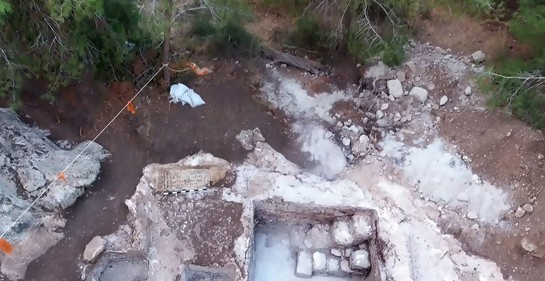 Vista desde arriba de la zona de la excavación