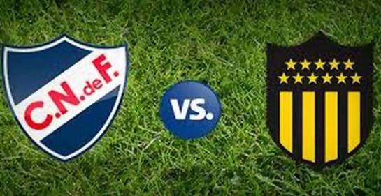 Los escudos de los equipos de fútbol Nacional y Peñarol