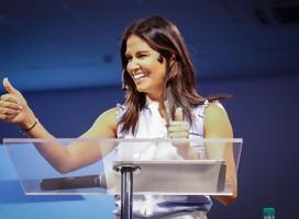 Con Verónica Alonso, precandidata a la Presidencia de la República por el PN