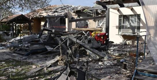 Destrucción en casa en localidad israelí Mishmeret
