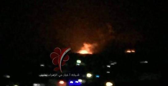 explosiones en lugar atacado en Aleppo