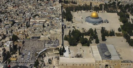 Vista aérea del Monte del Templo/Haram al-Sharif