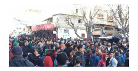 manifestación en DIr al-Balah
