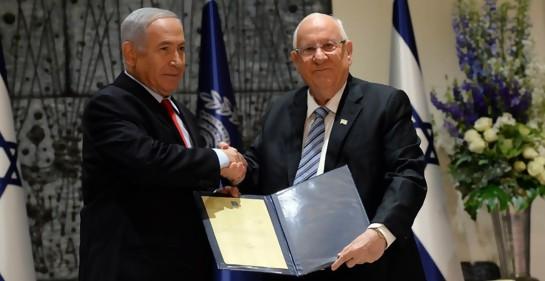 El Presidente de ISrael Reuven Rivlin y el Premier Biniamin Netanyahu