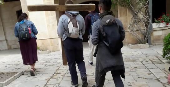 Procesión cristiana en Jerusalem