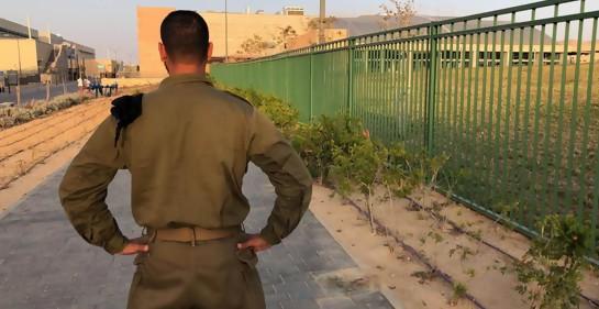 Nuevo cadete en curso israelí de oficiales. Los padres: provenientes de Gaza.