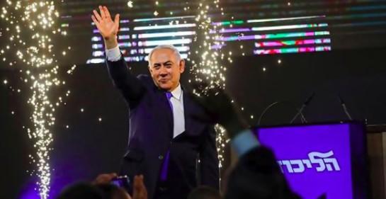 Netanyahu en la noche de las elecciones (Foto: Facebook)