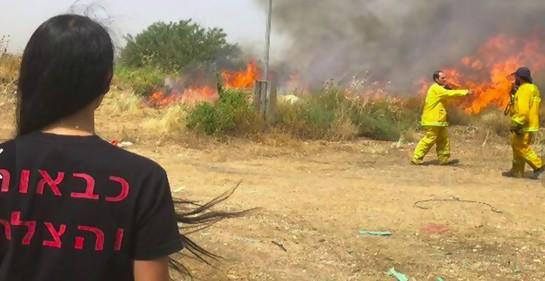Videos: mira los incendios en Israel y la reacción policial.