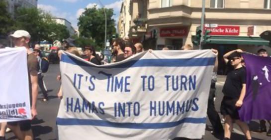 Berlín es el escenario de dos marchas: una pro palestina y otra pro israelí