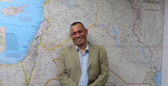 Con el empresario palestino Ashraf el-Ja´abari de Hebron.