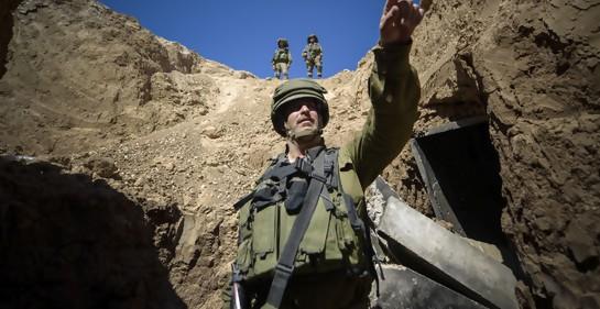 Soldados israelíes en el descubrimiento de un túnel de Hamas (Foto: Dover Tzahal)