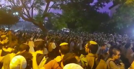El funeral (Twitter de Srugim News)