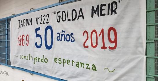 Feliz aniversario al Jardín Golda Meir de Casavalle