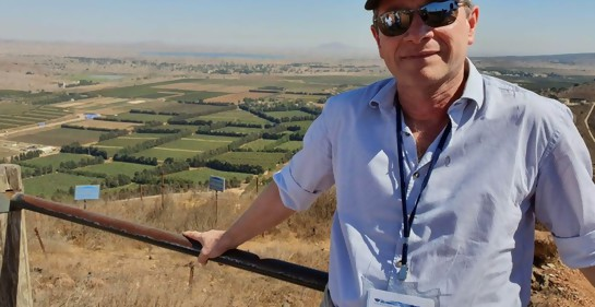 Daniel Castro en el norte de Israel