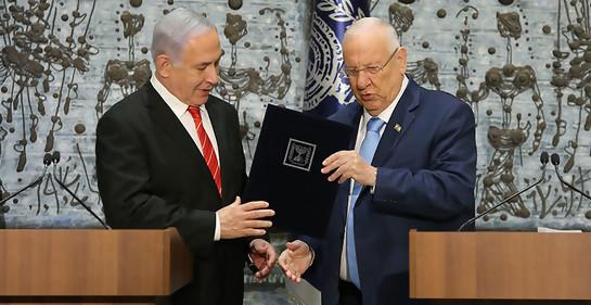 Rivlin encargó a Netanyahu la formación del gobierno