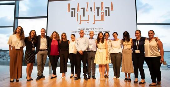 Socios en el nuevo emprendimiento en el lanzamiento de Hazira, innovación en el Gobierno Municipal