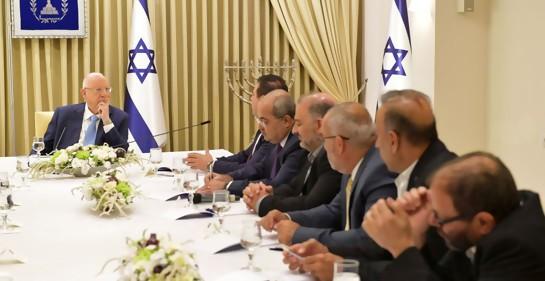 La delegación de la Lista Conjunta reunida con Rivlin