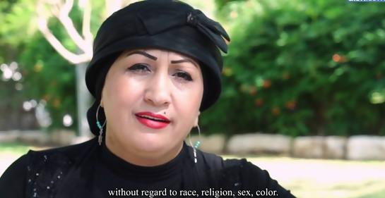 Sara Zoabi, árabe, musulmana, israelí, muestra la verdad