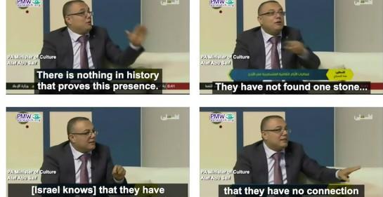 Ministro de Cultura de la Autoridad Palestina desmiente historia judía