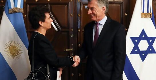 La Embajadora Galit Ronen presenta credenciales ante el Presidente de Argentina Mauricio Macri