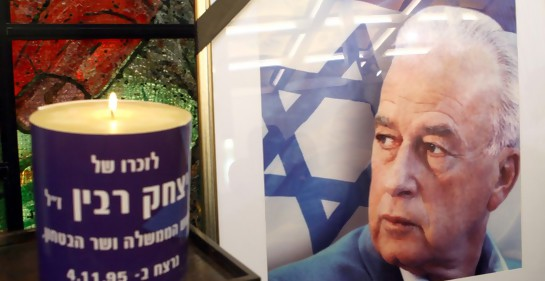 Recordando a Rabin (Foto: Ariel Jerozolimski)