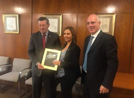 Con el Canciller Nin Novoa y el Embajador Yoed Magen