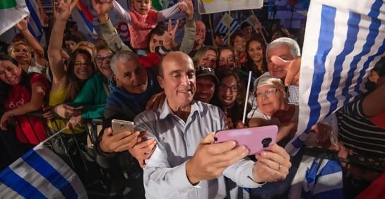 Con Daniel Martínez, candidato a la Presidencia por el Frente Amplio