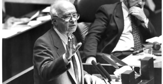 Acto en Montevideo en recuerdo de Itzjak Rabin, a los 24 años de su asesinato