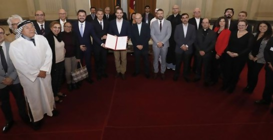 Los representantes de los distintos credos junto al Gobernador de Rio Grande du Sul firmaron la Declaración de Córdoba.