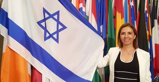 la Ministra Gamliel en la ONU (Foto: Twitter oficial)
