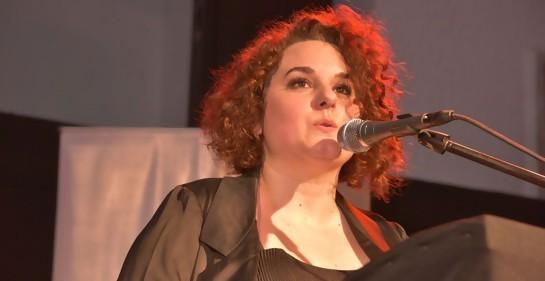 Silvina Cattaneo en la reinauguración del Museo de la Shoa