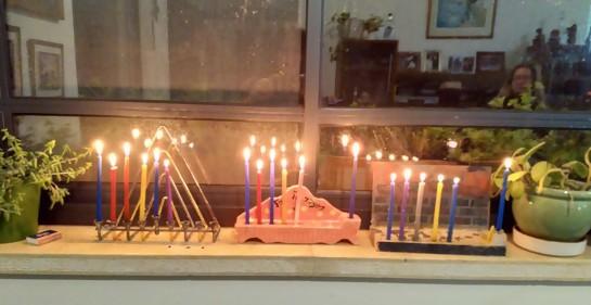 Compartiendo luz-algunos ejemplos- casi al terminar Janucá