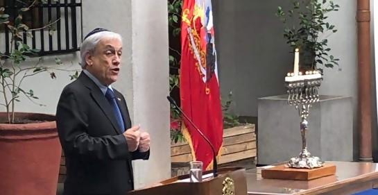 Janucá en el Palacio de La Moneda, con el Presidente Sebastián Piñera