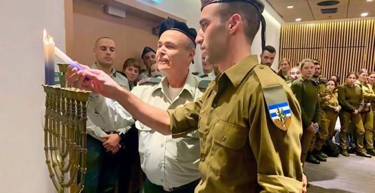 General israelí druso al frente de un singular evento de Janucá