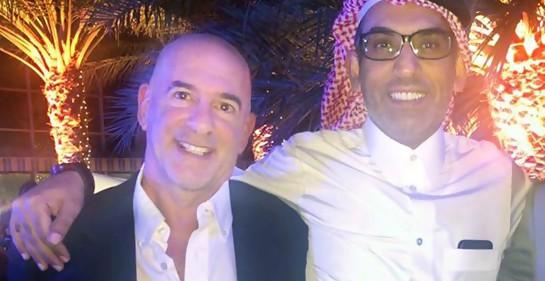 El Dr. Ran Steinberg del Rambam con un colega de Qatar Dr. Ali Mansur