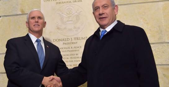 El PM Netanyahu con el Vicepresidente de EEUU Mike Pence (Foto: GPO)