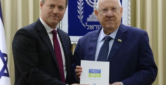 El Presidente del IDI Plesner con el Presidente de Israel Rivlin