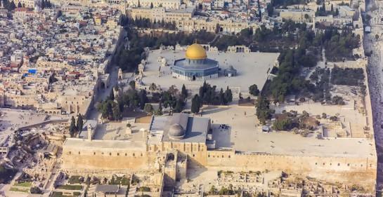 Vista aérea del Monte del Templo (Foto: Andrew Shiva, Wikimedia commons)