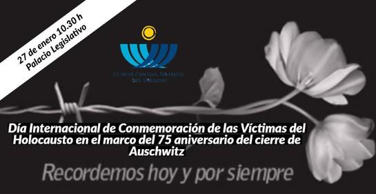 27 de enero: sesión especial del Parlamento y Cadena Nacional en recuerdo de las víctimas del Holocausto