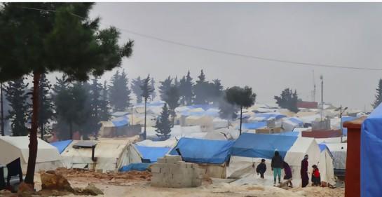 Desplazados en Idlib (Foto: MSF)