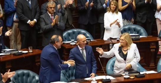 Con Javier García,  Senador re-electo y Ministro designado de Defensa