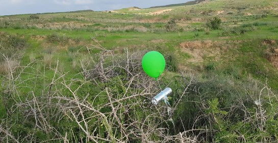 Aumentan los ataques con globos explosivos contra Israel