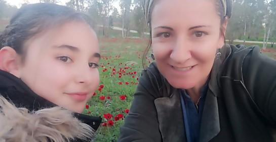 Dalia Harel de Sderot y su hija menor Tzofia