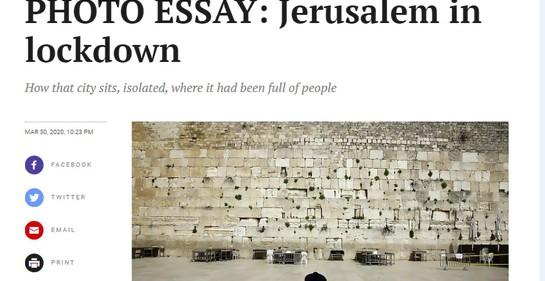 Ensayo fotográfico: Jerusalem en tiempos de Corona